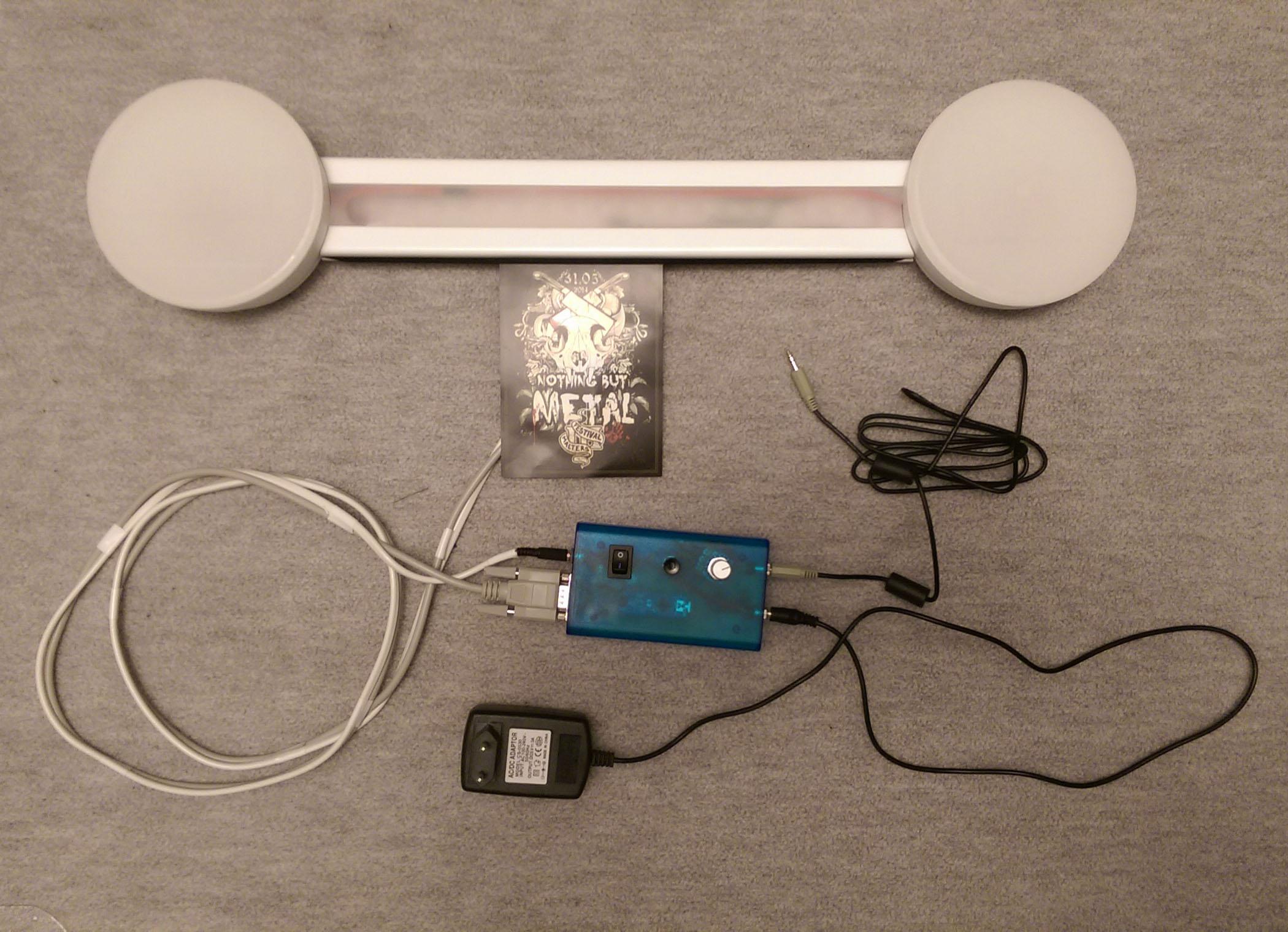 Lichtorgel mit Volume Unit Meter