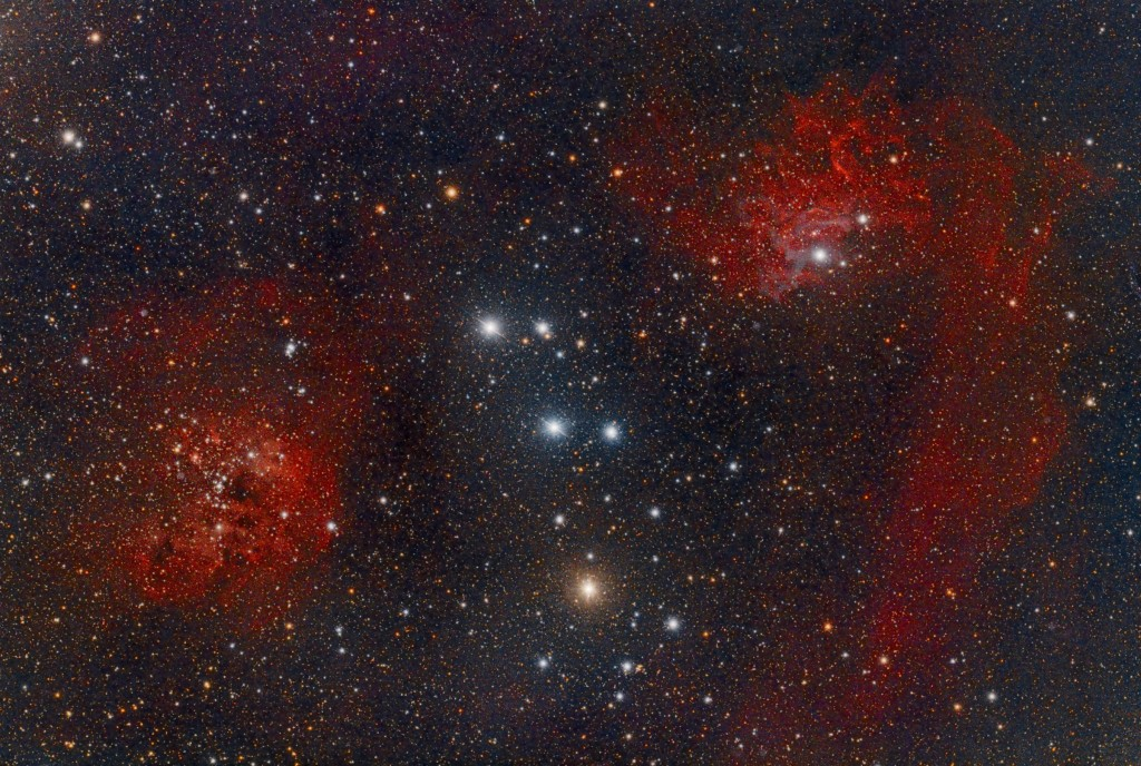 Flaming Star Nebula und IC10
