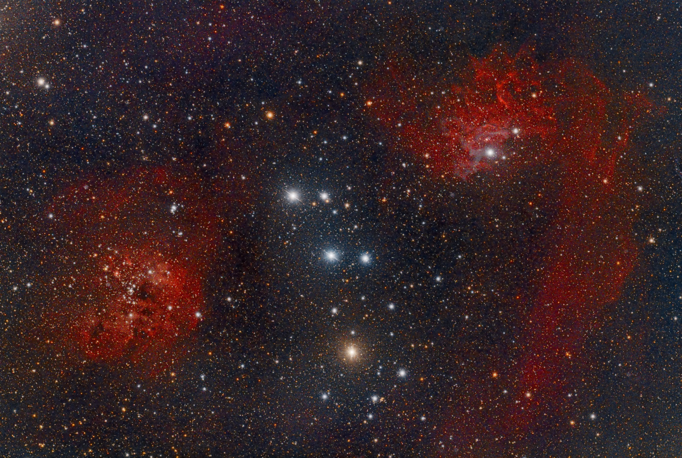 Flaming Star Nebula und IC410